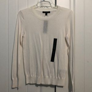 White sweater from Banana Republic